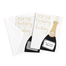 Champagne Will You Be My - Scratch Off Card - Bridesmaid