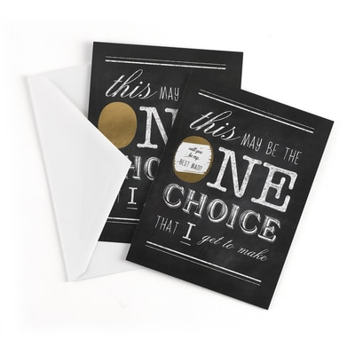 One Choice - Scratch Off Card - Best Man