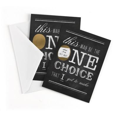 One Choice - Scratch Off Card - Best Man