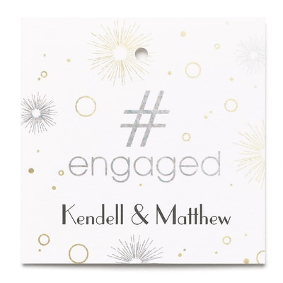 #Engaged - Favor Tag - Personalized
