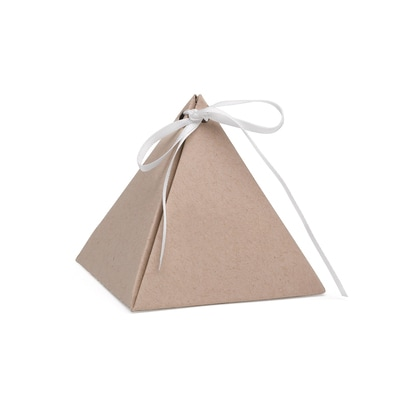 Pyramid Favor Box - Kraft - Blank