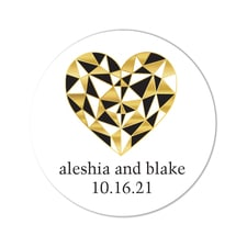Geo Heart - Stickers - Personalized