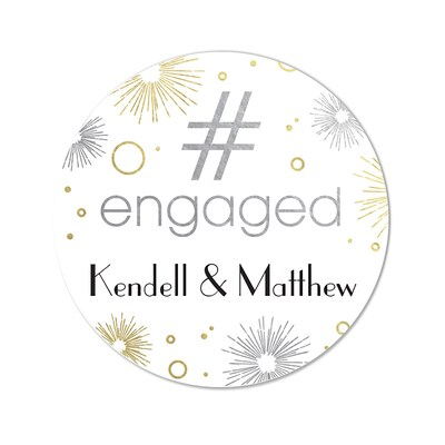 #Engaged - Stickers - Personalized