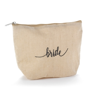 Bride Natural Jute Cosmetic Bag