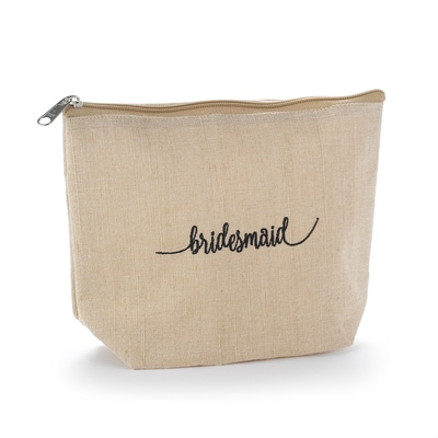 Bridesmaid Natural Jute Cosmetic Bag