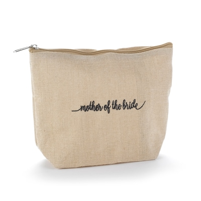 Mother of the Bride Natural Jute Cosmetic Bag