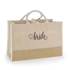 Bride Natural Jute Tote Bag - Large