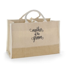 Mother of the Groom Natural Jute Tote Bag - Large