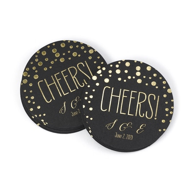 Polka Dot Coasters - Personalized