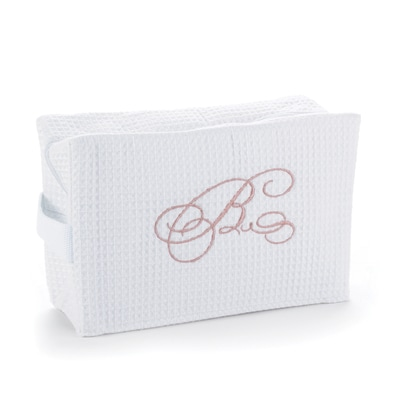 Monogram Initial - Cosmetic Bag