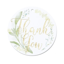 Greenery Favor Tags