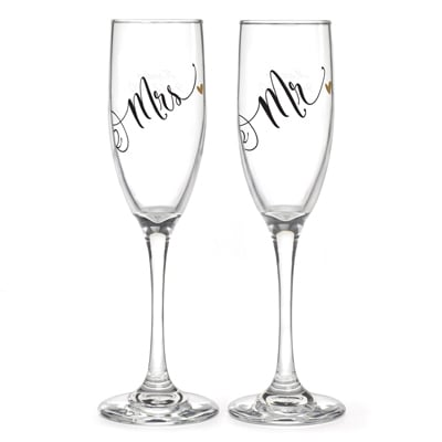 Mr. & Mrs. Black & Gold Flutes