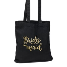 Bridesmaid Black Tote Bag