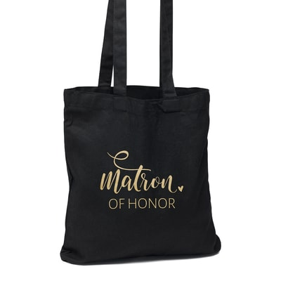 Matron of Honor Black Tote Bag