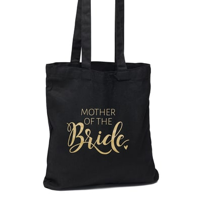 Mother of the Bride Black Tote Bag