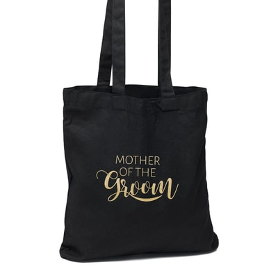Mother of the Groom Black Tote Bag