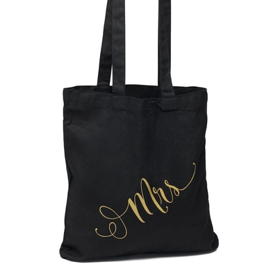 Mrs. Black Tote Bag