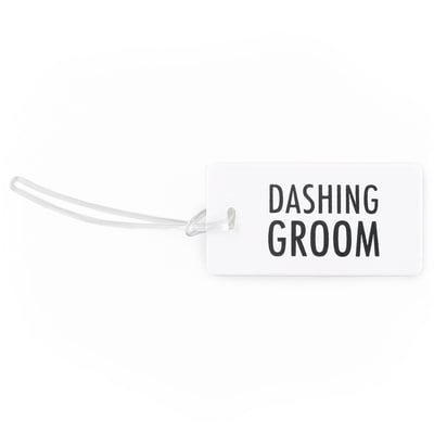 Dashing Groom Luggage Tag
