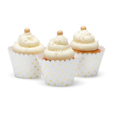 Gold Dots Cupcake Wrap