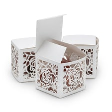 Floral Laser Cut Favor Box