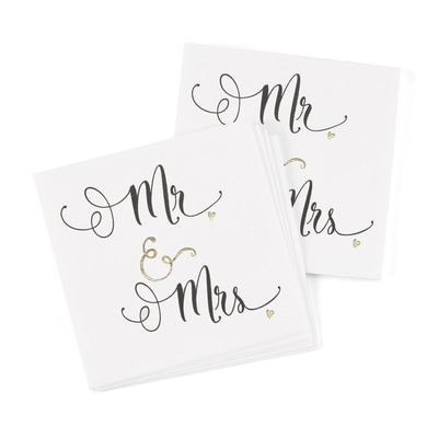 Mr. & Mrs. - Napkins