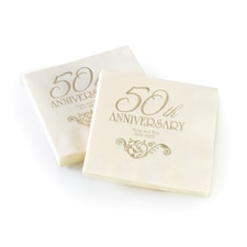 50th Anniversary - Napkin - Personalized