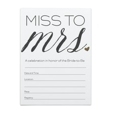 Miss to Mrs. - Shower Invitation
