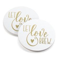 Let Love Brew - Coasters