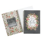 Chalkboard Floral Journal - Personalized