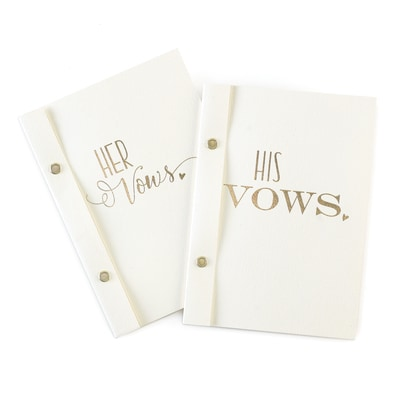 His & Hers Vow Books