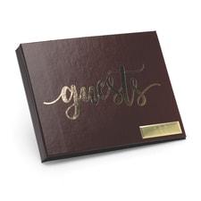 Foil Guest Book - Burgundy