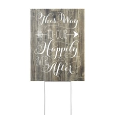 Happily Ever After - Yard Sign