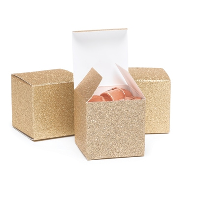 Glitter Favor Box - Gold