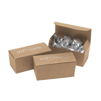 Mr. & Mrs. - Truffle Boxes - Kraft