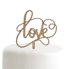 Woodgrain Love - Cake Pick
