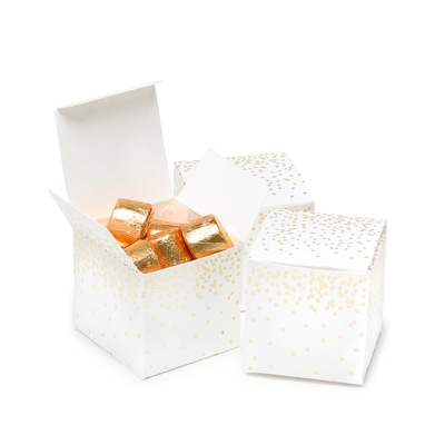 Gold Dots - Favor Box