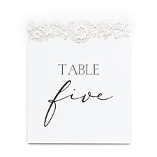 Floral Laser Cut - Table Number Cards 1-10