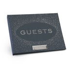 Navy Guest Book Personalized