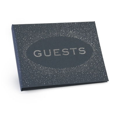 Guest Book - Navy - Blank