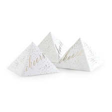 Cheers Dots - Pyramid Favor Box