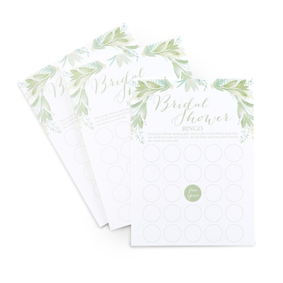 Greenery - Bridal Shower Bingo