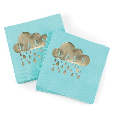Baby Shower - Napkins - Aqua
