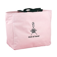 Wedding Party Pink Tote Bags - Maid of Honor