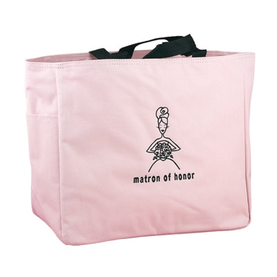 Wedding Party Pink Tote Bags - Matron of Honor