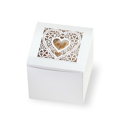 Heart Laser Cut Cupcake Boxes