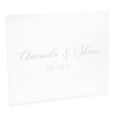 The Couples Special Day Acrylic Sign