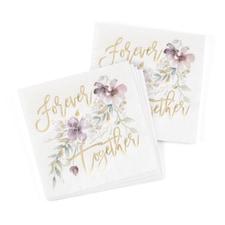Together Forever Floral Napkin - Beverage