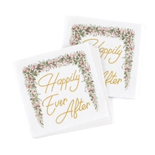 Happily Ever After Greenery Napkin - Beverage
