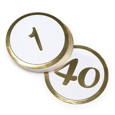 Gold Table Number 1-40