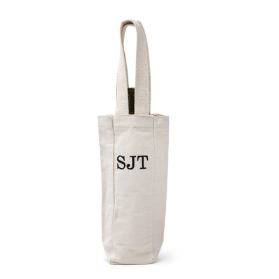 Monogram Wine Tote Bag